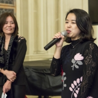 From left: Jennifer Zhang, Founder- Curator, L'ETINCELLE ART SPACE, Zixiao Pu, Vice President, New iPicture Media